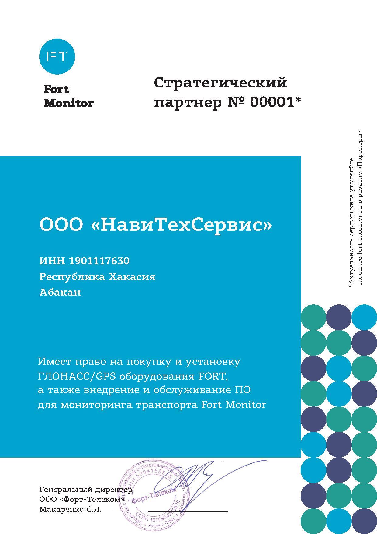 Стратегический партнер №00001
