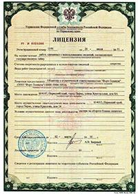Лицензия на работу с гостайной